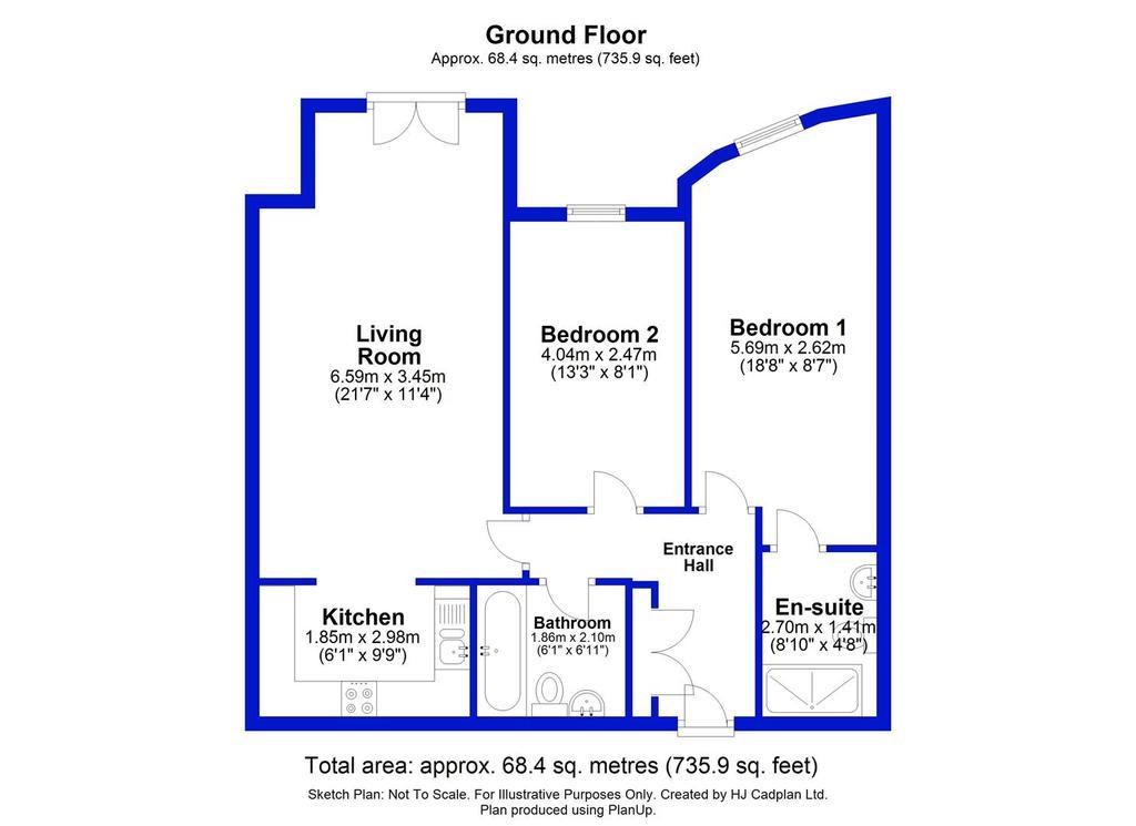 Floorplan: 4 Cocker Beck House, Darlington.JPG