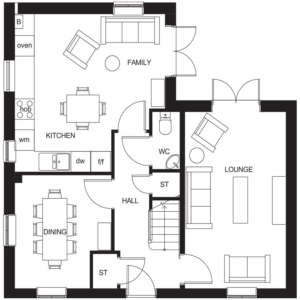 Floorplan 1 of 2: Alderney ground floor plan