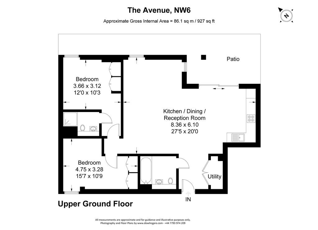 Floorplan: The Avenue, NW6 copy