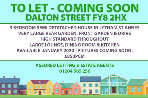 3 bedroom semi-detached house to rent - Dalton Street, Lytham St. Annes