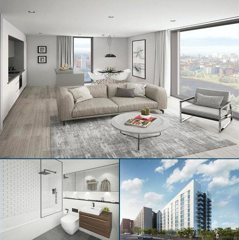 2 bedroom apartment for sale - Plot Graphene 2.01 at Aspen Woolf, Graphene House, Uptown Riveside, Springfield Lane M3