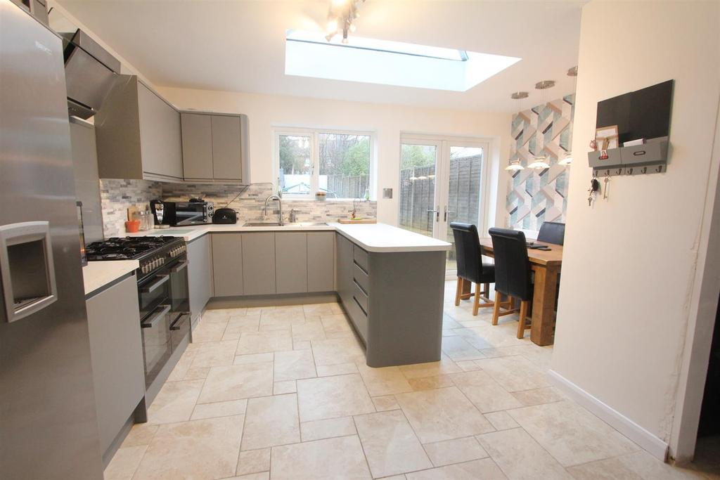 Extended and refitted open plan dining kitchen