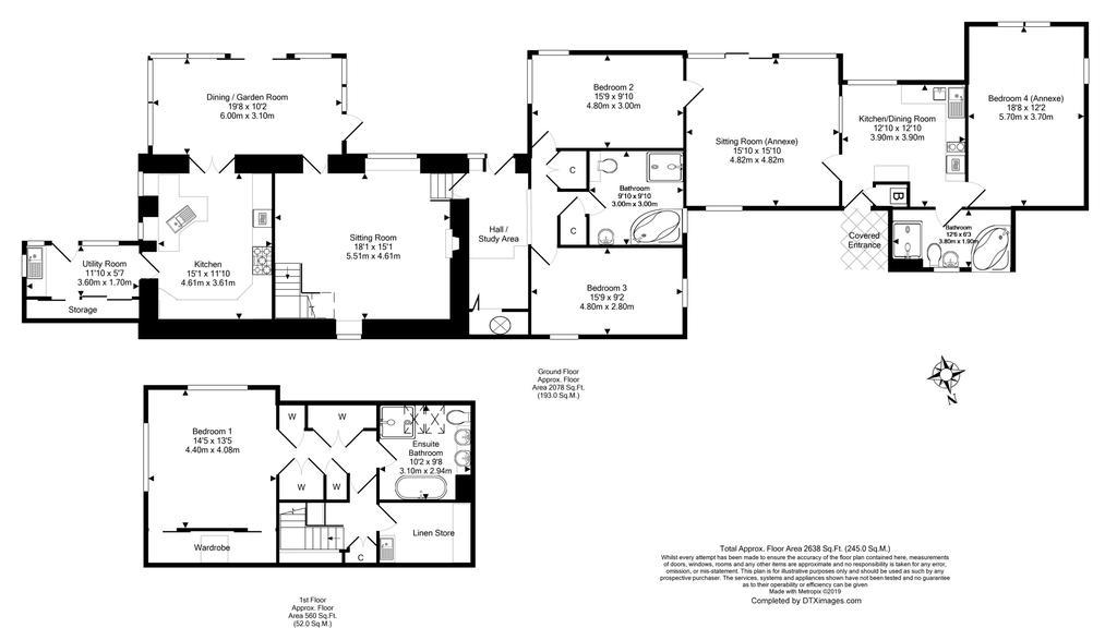 Floorplan 1 of 2: Main House