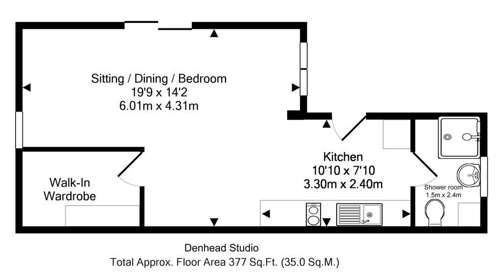 Floorplan 2 of 2: Garden Studio