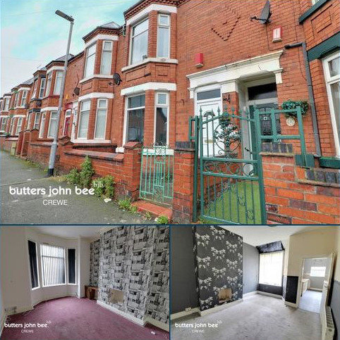 3 bedroom terraced house for sale - Derrington Avenue, Crewe