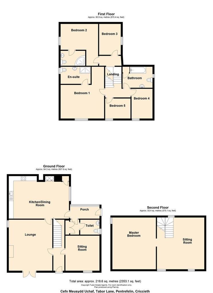 Floorplan 2 of 2: Cefn Meusydd Uchaf, Tabor Lane, Pentrefelin, Cricc