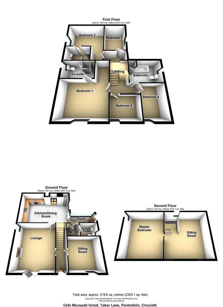 Floorplan 1 of 2: Cefn Meusydd Uchaf, Tabor Lane, Pentrefelin, Cricc