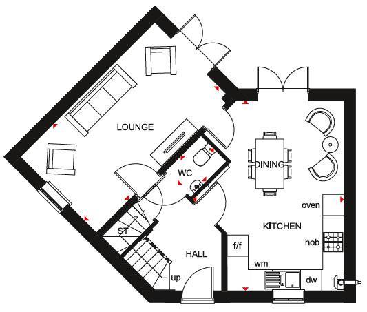 Floorplan 1 of 2: Lutterworth GF Plan