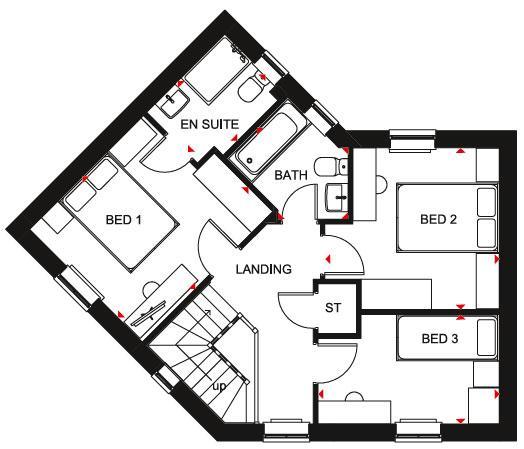 Floorplan 2 of 2: Lutterworth SF Plan