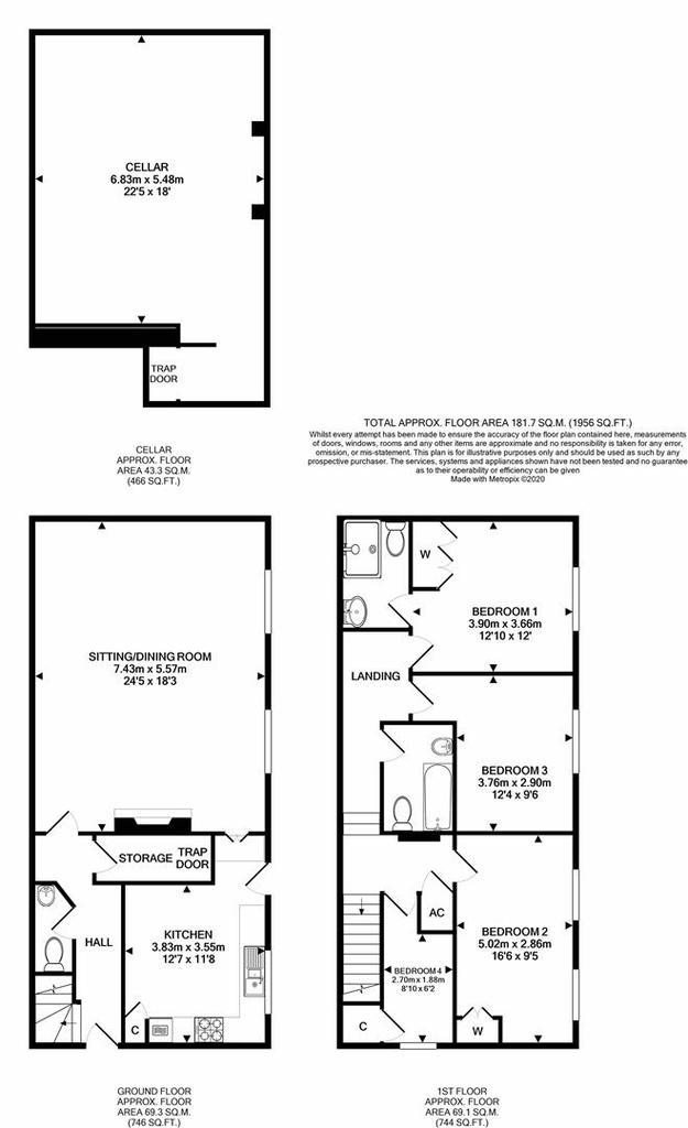 Floorplan: 1 Halse Manor Halse print.JPG