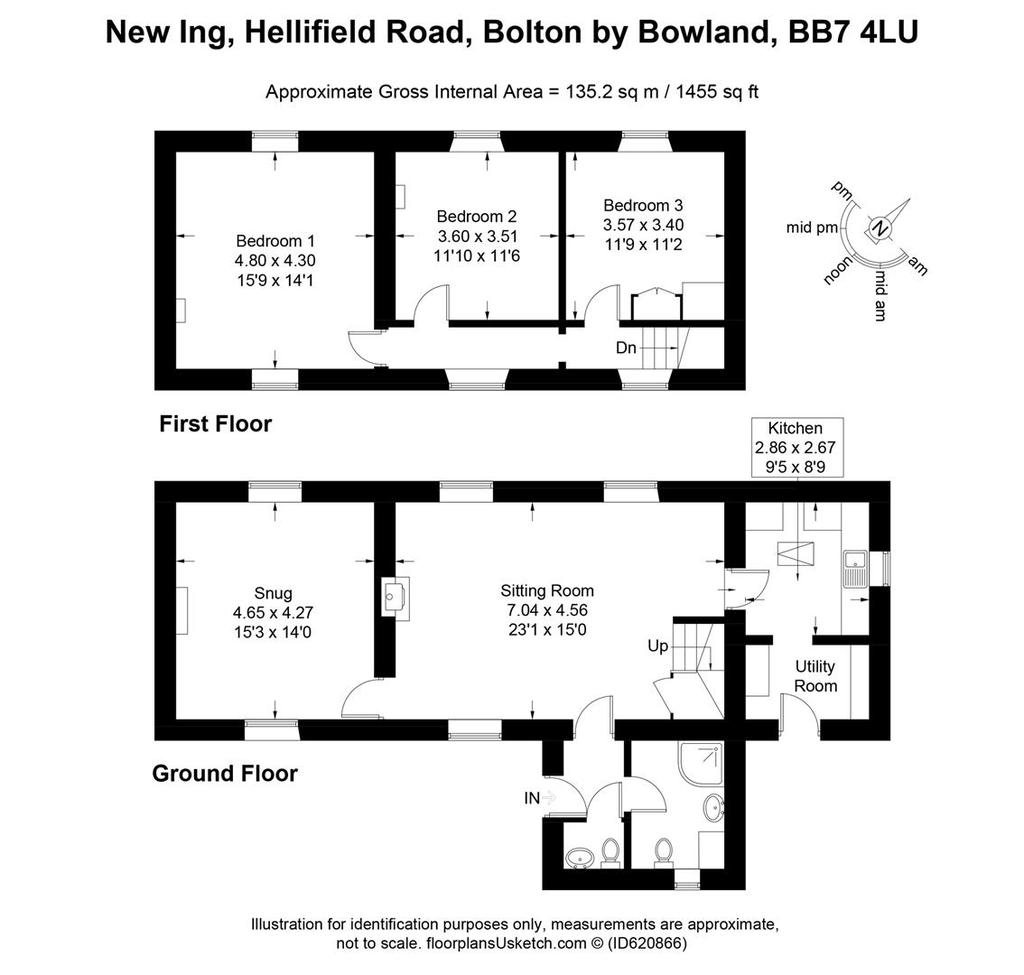 Floorplan: New Ing, Hellifield Road, Bolton by Bowland, BB7 4