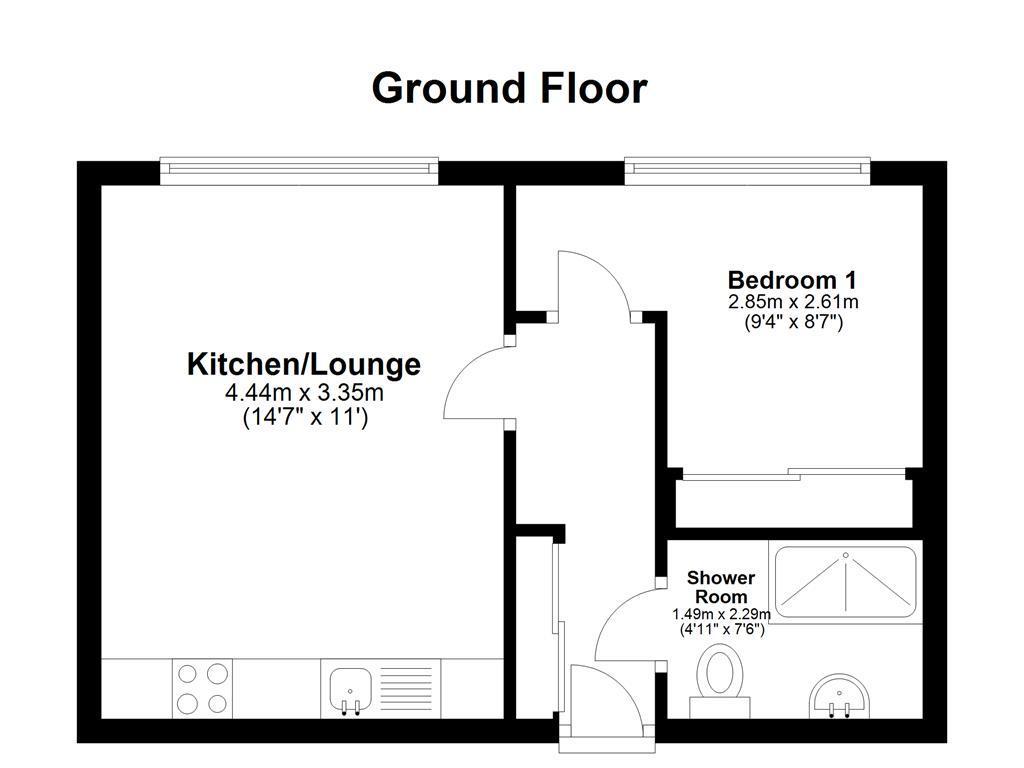 Floorplan: 167 Brenchley House