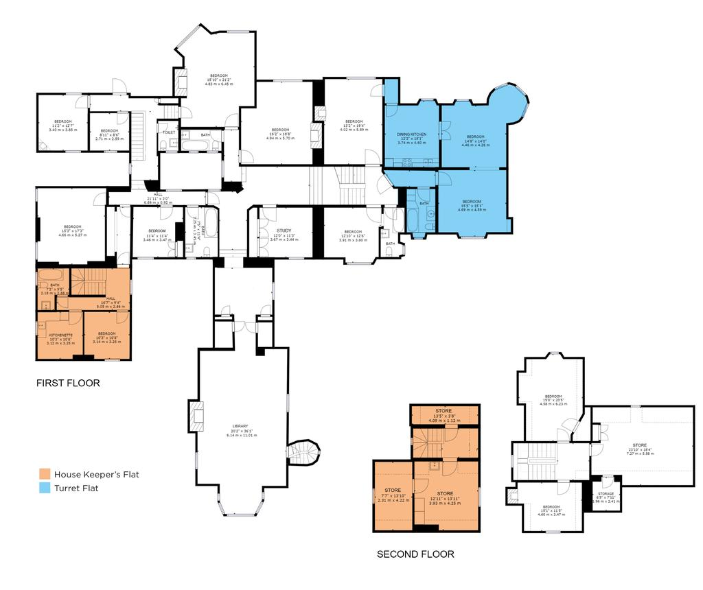Floorplan 2 of 2: 1st & 2nd Floors
