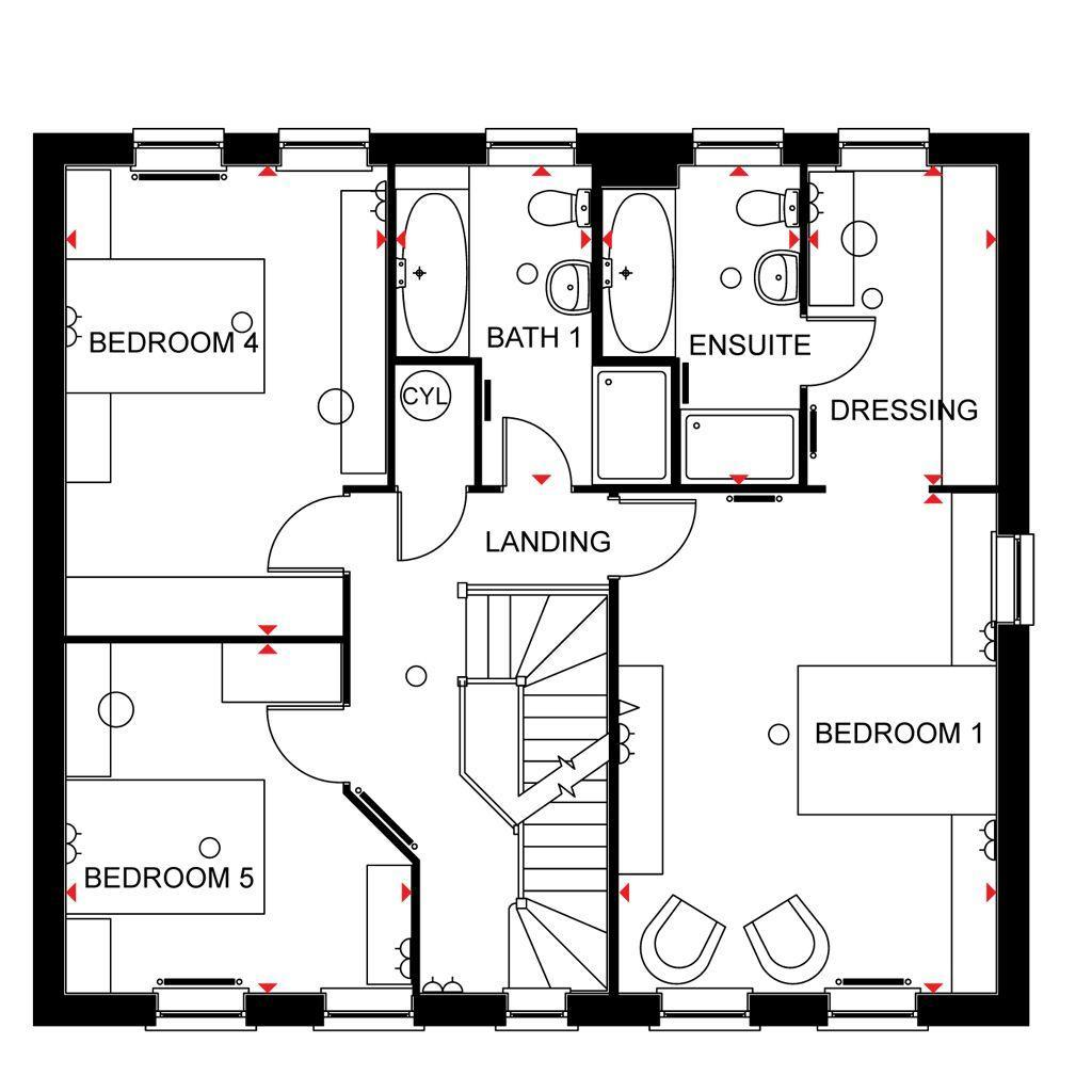 Floorplan 2 of 3: Buckingham first floor