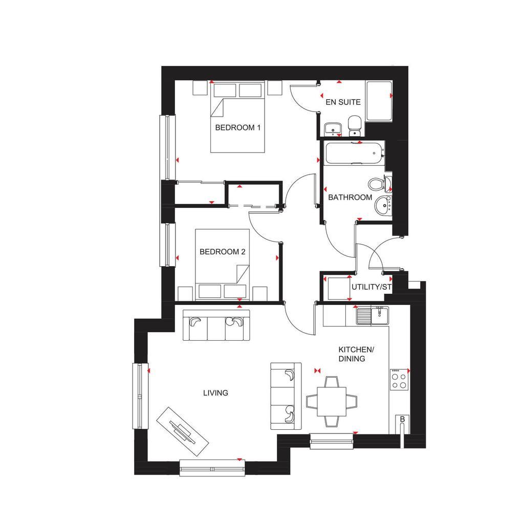 Floorplan: H7352 Type 08 Block 8 Floorplans