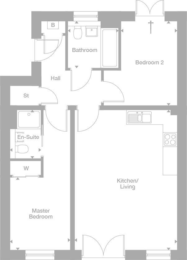 Floorplan 1 of 2: Ground Plots 428 and 431