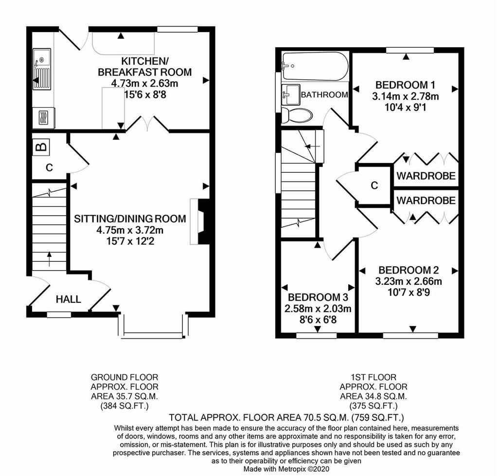 Floorplan: 20 Millers Way Bisjops Lydeard print.JPG