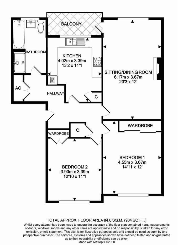 Floorplan: Flat3 Hovelands Court Taunton print.JPG