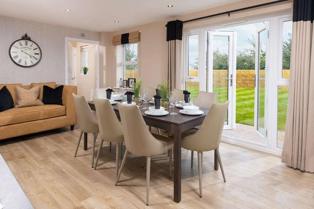Halton dining area with French doors to garden