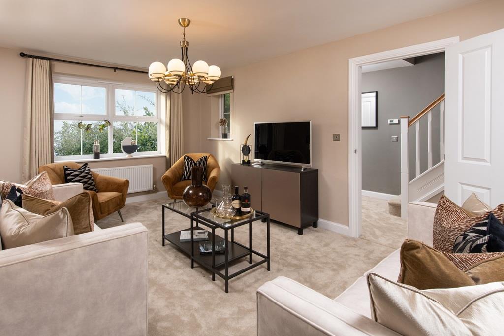 Halton lounge with view into hallway