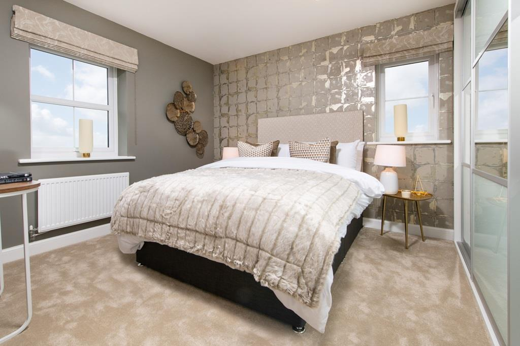 Double bedroom in the Halton home