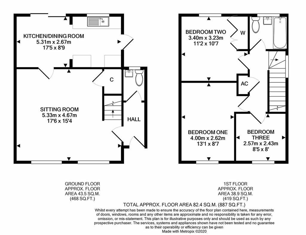 Floorplan: 44 Hither Mead Bishops Lydeard print.JPG