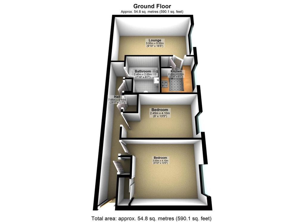 Floorplan: Lonsdale Court, Jesmond, Newcastle upon Tyne   Flo