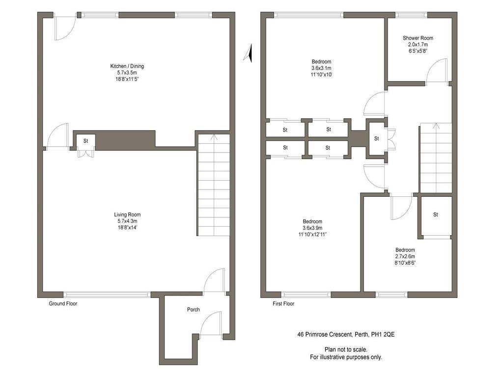 Floorplan: 46 Primrose Crescent Perth PH12 QE