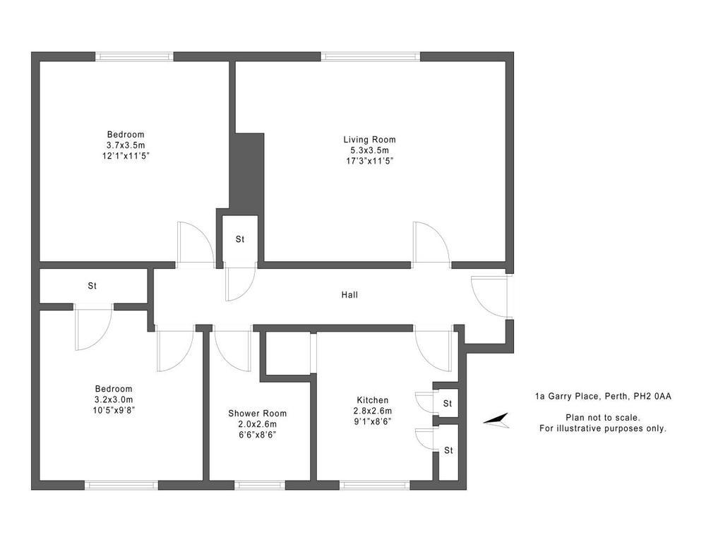 Floorplan: 1a Garry Place Perth PH20 AA