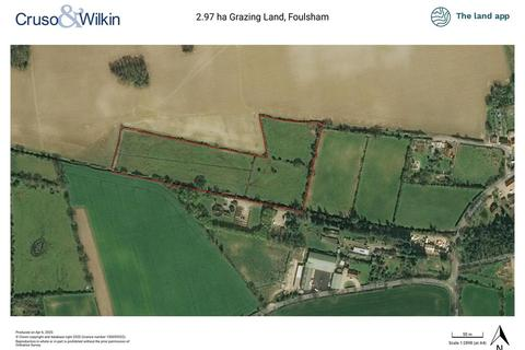 Farm land for sale - 2.97 hectares of Grazing Land, Foulsham