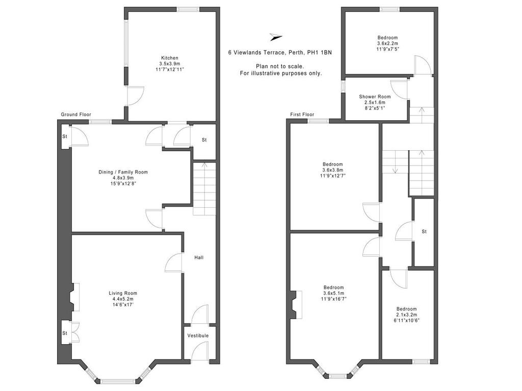 Floorplan: 6 Viewlands Terrace Perth PH11 BN