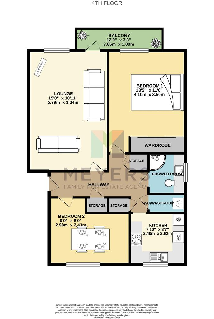 Floorplan 1 of 2: Colour Plan