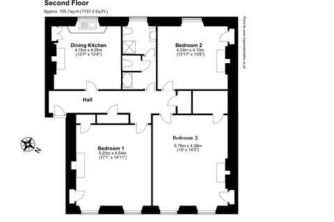 3 bedroom flat to rent - St Patrick Square, Edinburgh EH8