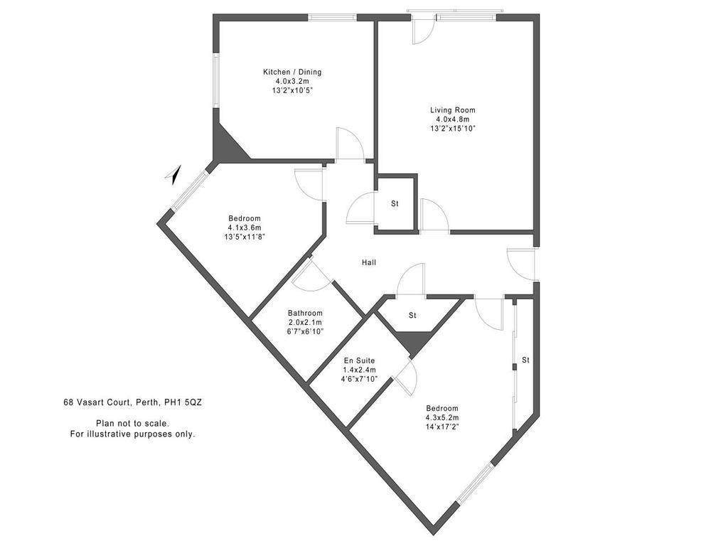 Floorplan: 68 Vasart Court Perth PH15 QZ