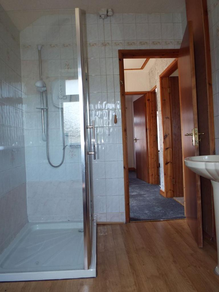Reverse view shower