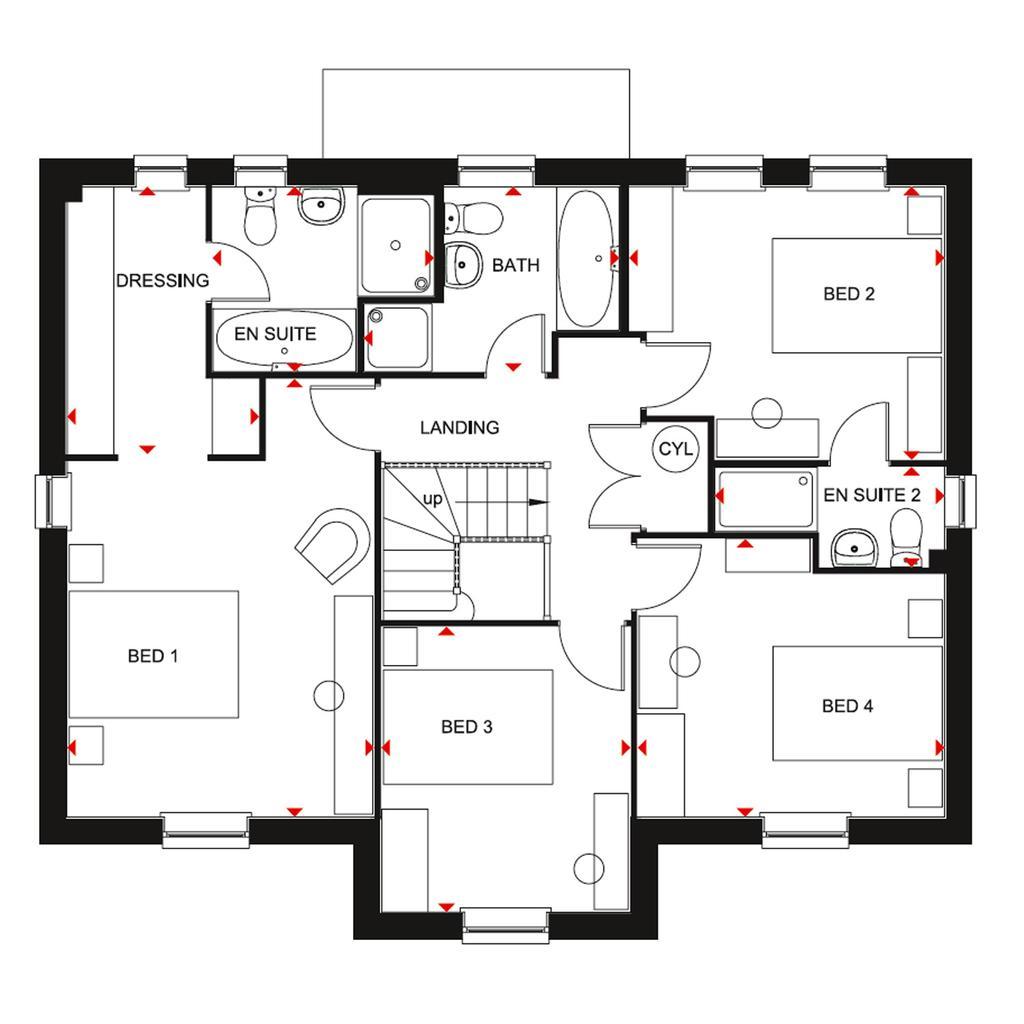 Plot 125 Winstone At Harland Park Cottingham Harland Way Cottingham Cottingham Hu16 4 Bed Detached House 450 000