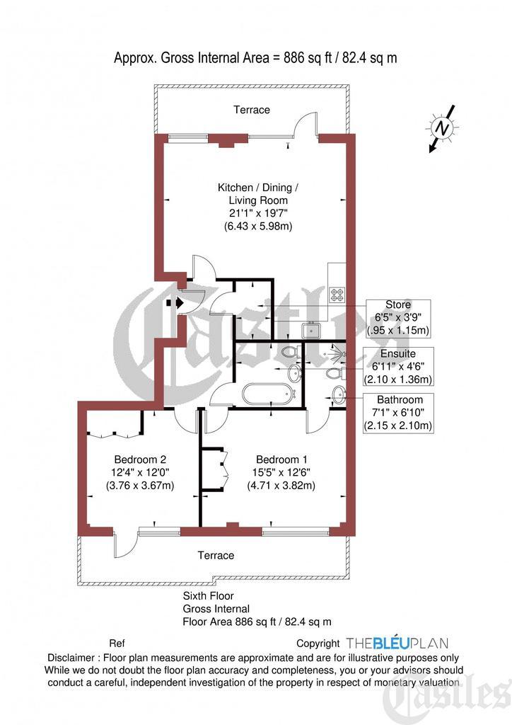 Floorplan: Apt A602,...