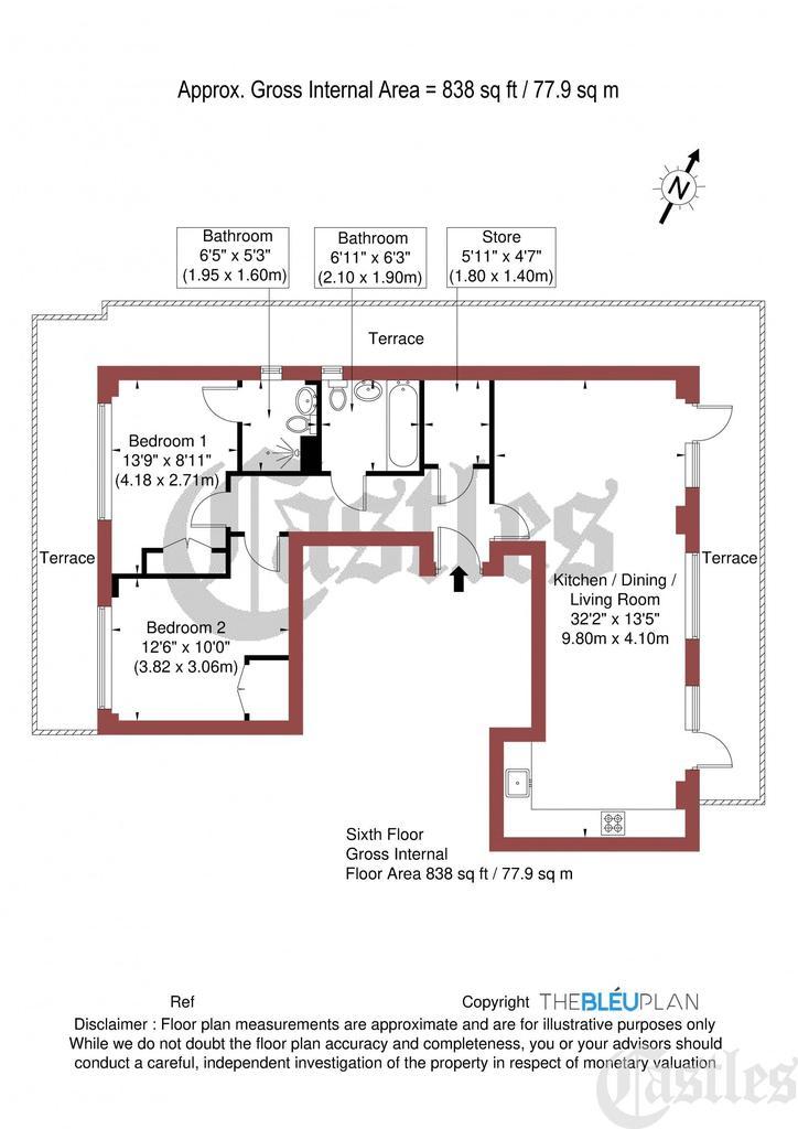 Floorplan: Apt A601,...