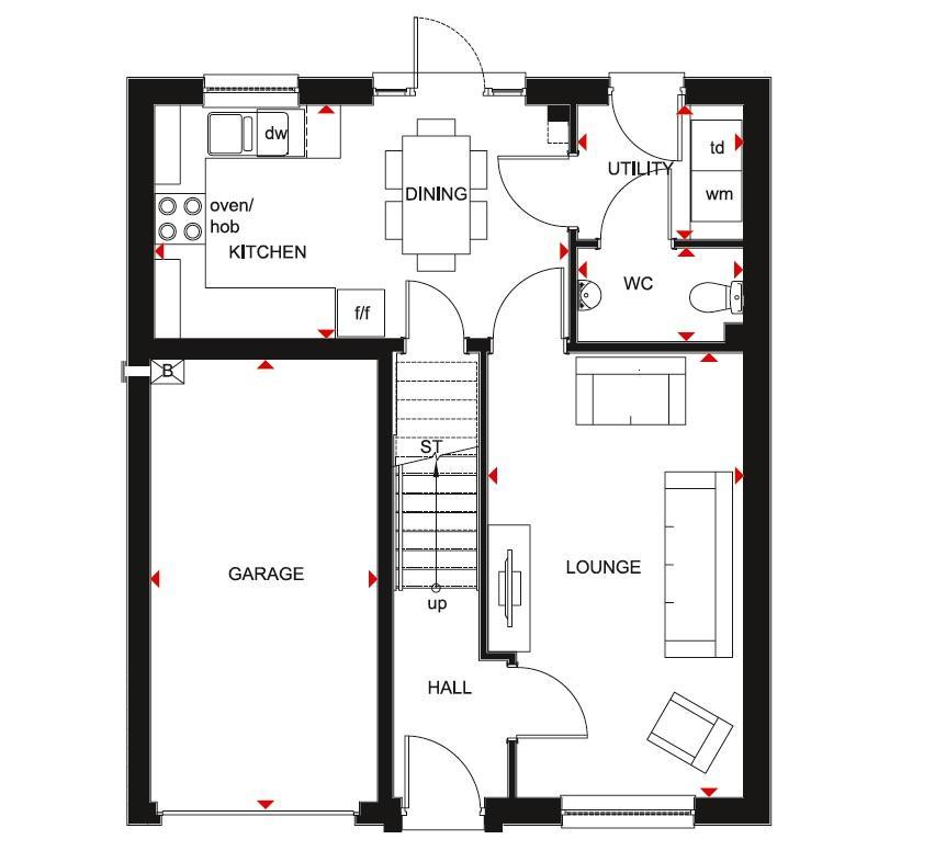 Floorplan 1 of 2: Glenbuchat first floor