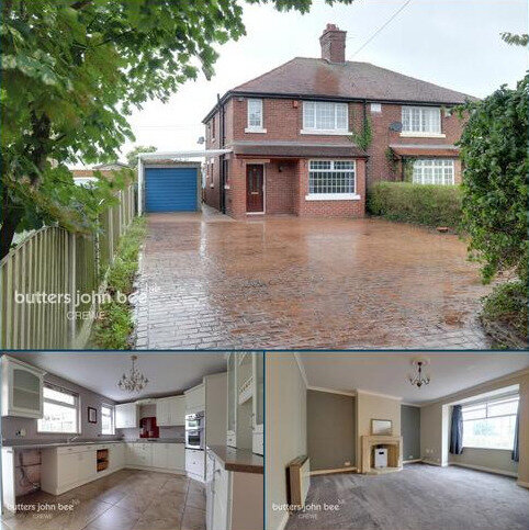 3 bedroom semi-detached house for sale - Red Hall Cottages, Middlewich Road, Crewe