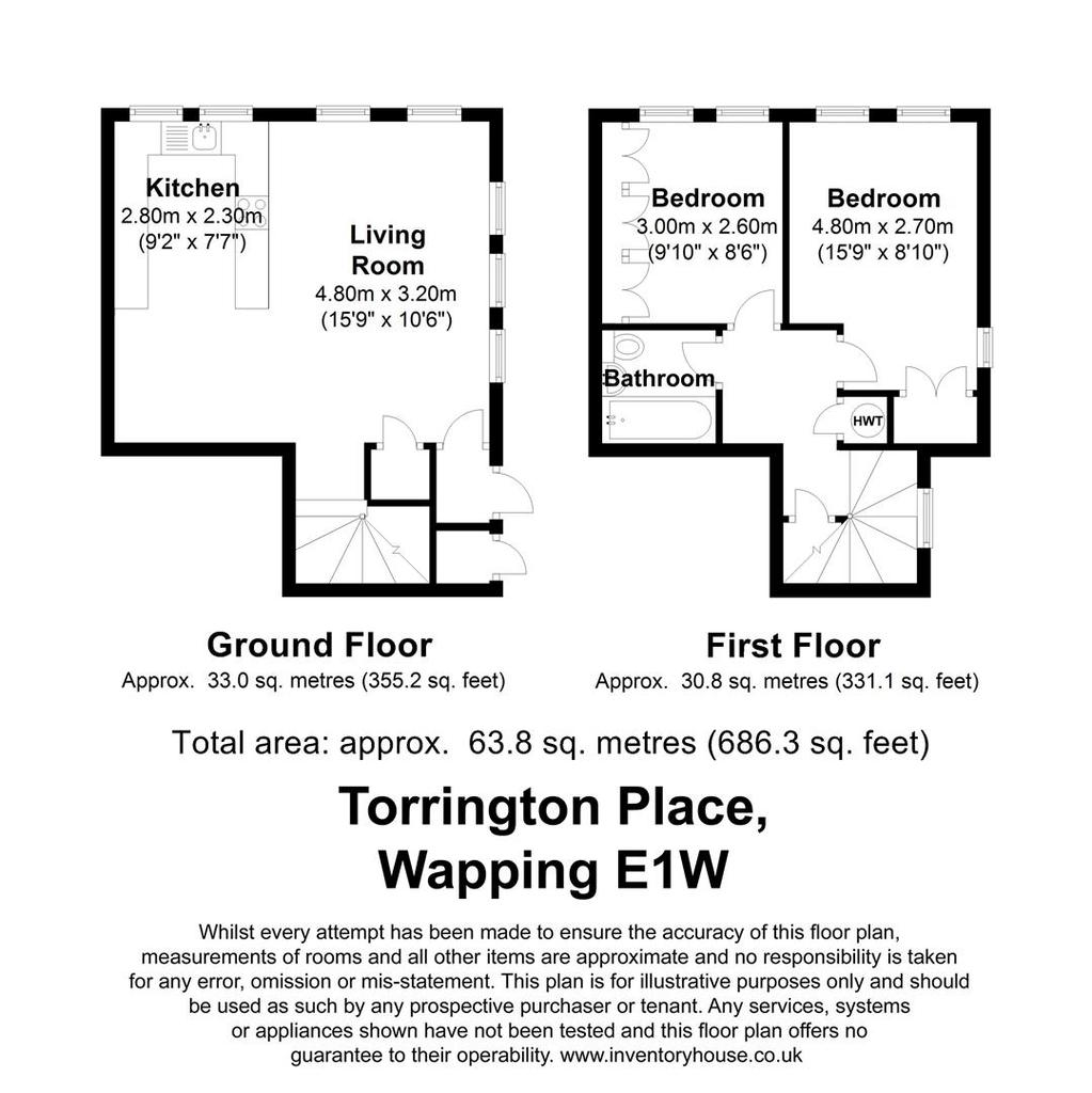 Floorplan: Torrington Place E1 W.JPG
