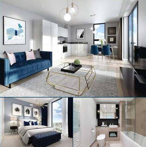 1 bedroom apartment for sale - Plot 243, Soleil Apartments at Western Circus, Acton, Western Avenue, Acton, LONDON W3