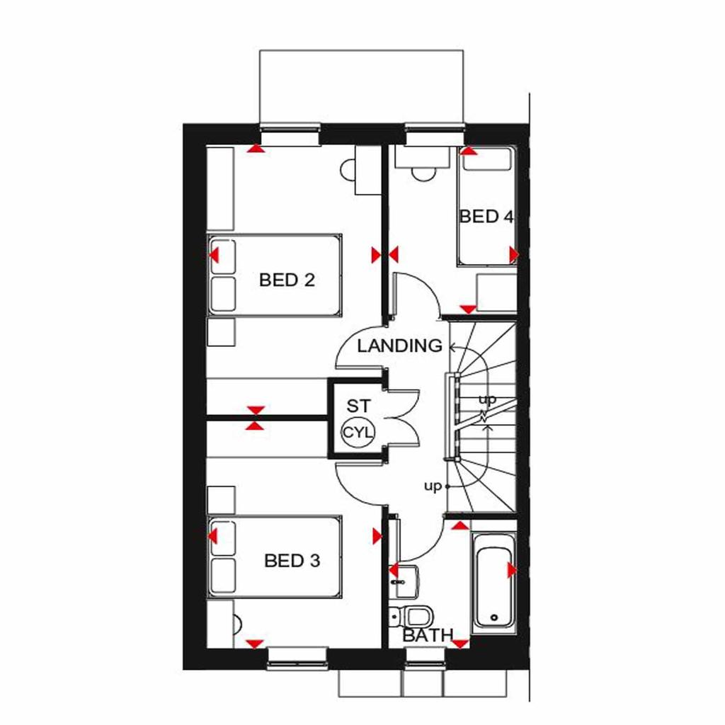 Plot 213 Woodcote At Gilden Park Gilden Way Old Harlow Harlow Cm17 4 Bed Semi Detached House 457 500
