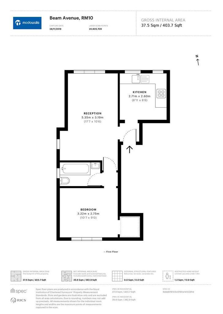 Floorplan: Flat D 1 Beam Avenue floorplan 1.jpg