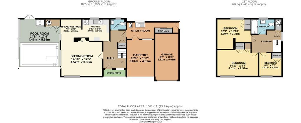 Floorplan: Cranhams Cottage