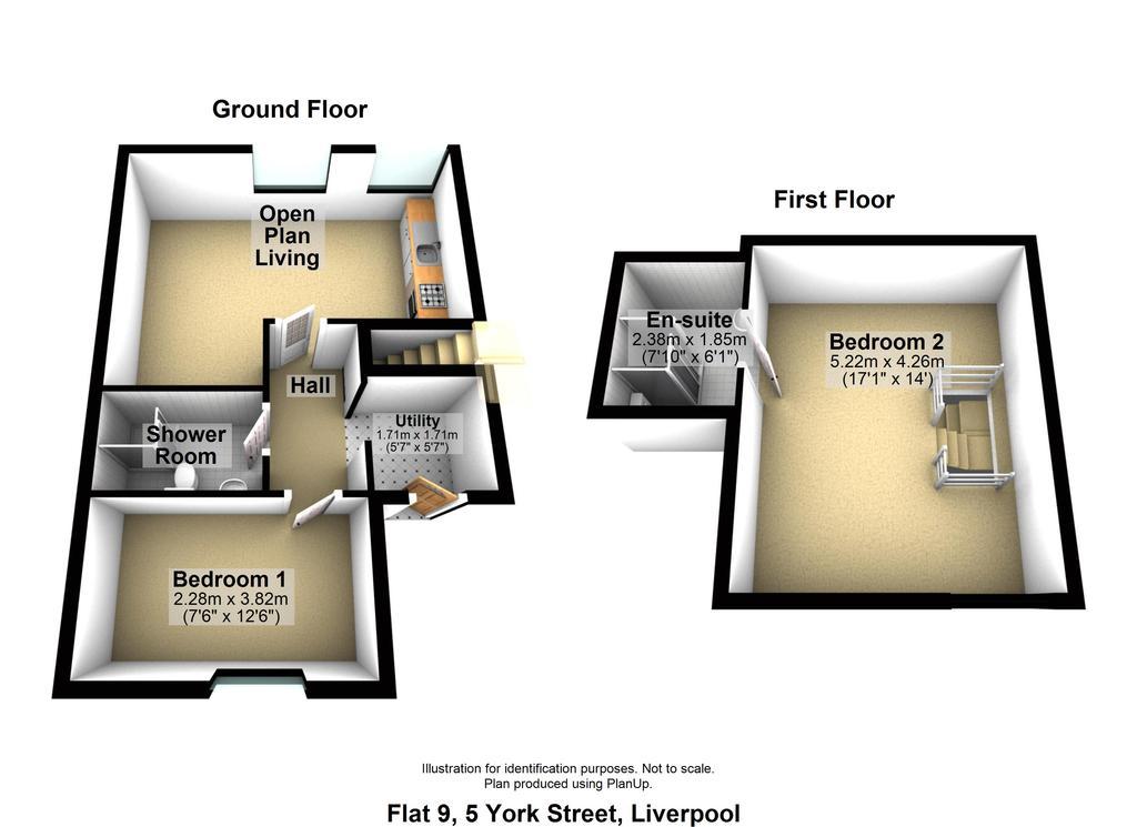 Floorplan: Flat 9 5 York Str...