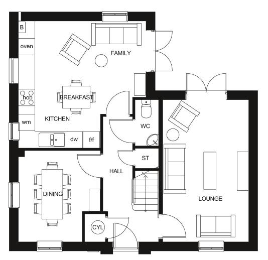 Floorplan 1 of 2: Alderney gf