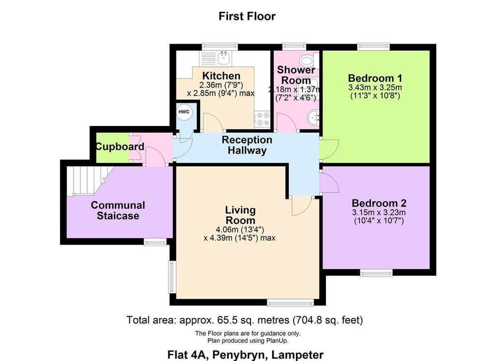 Floorplan: Flat 4 A, Penybryn, Lampeter.JPG