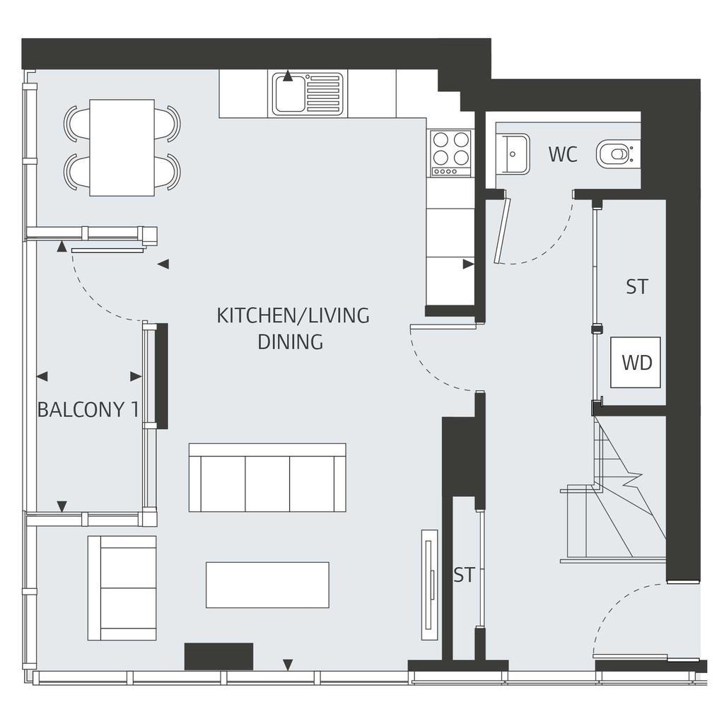 Floorplan 1 of 2: Sixteenth Floor