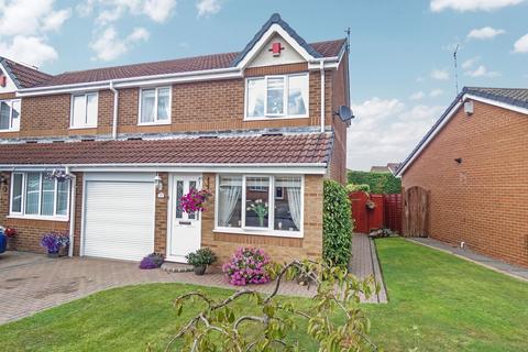 3 bedroom semi-detached house for sale - Brockwood Close, Fallowfield, Ashington, Northumberland, NE63 8LT
